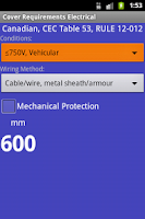Screenshot of Cover Depth Electrical