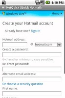 Screenshot of HotQuick Pro (Quick Hotmail)