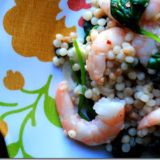 Chili, Lemon & Basil Shrimp with Israeli CousCous