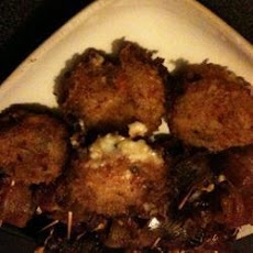Goat Cheese Stuffed Risotto Balls