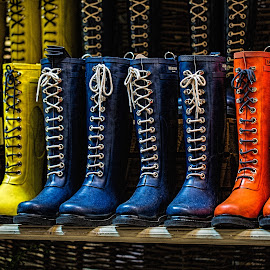 Boots of many colors by Marc Litvinoff - People Fashion ( clothing, westport, boots, artistic, object )