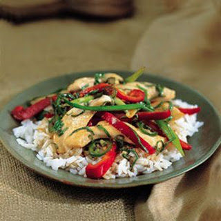 Spicy Chicken and Basil Stir-Fry