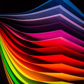 Color waves by Larry Kaasa - Abstract Patterns