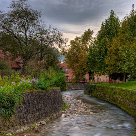 Samobor Park by Lasbi Naboj - City,  Street & Park  City Parks ( dawn, waterscape, samobor, landscape, city )