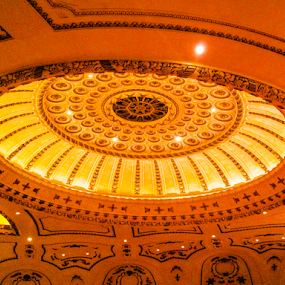 Powell Symphony Hall by Del Candler - Buildings & Architecture Architectural Detail ( ornate, ceiling, dome, powell symphony hall, st. louis, Architecture, Ceilings, Ceiling, Buildings, Building,  )