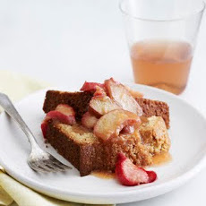 Olive Oil Cake with Roasted Rhubarb