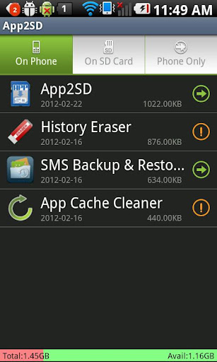 app2sd-save-phone-storage for android screenshot