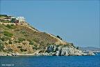 Datça nın hemen batısındaki tepeye yapılmış evin kendine özel plajı bile var