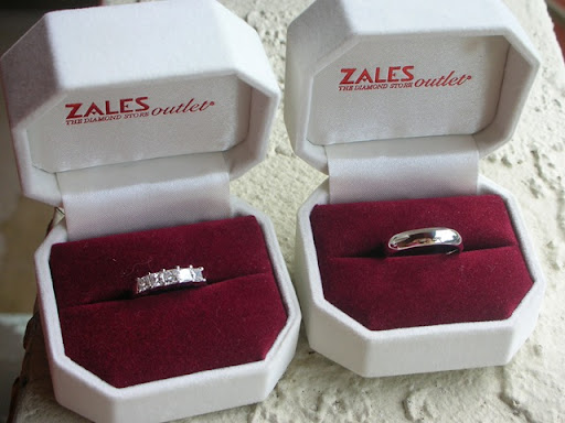 Wedding Bands I chose a 1 2 carat ring enhancer from the Zales Outlet in