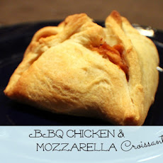 BBQ Chicken & Mozzarella Croissants