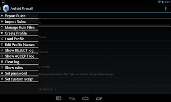 Screenshot of Android Firewall