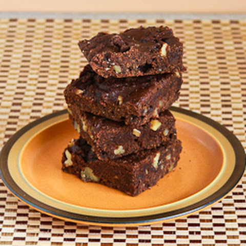 Low-Sugar and Whole Wheat Brownies with Walnuts (Grandma Willey's Brownie Recipe)
