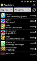 Screenshot of Apps Explorer