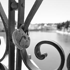 Key to my heart! by José Borges - Artistic Objects Other Objects ( locker, bridge, key )