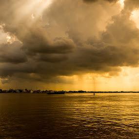 Rainy far away by Kiên Lâm - Landscapes Cloud Formations ( long an, zuiko, kienmm, vuong thu linh, vietnam, saigon, phuot, pen, mua nuoc noi, hong ngu, tra su, chau doc, dong tham, olympus )