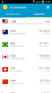 xCurrencies - currency rates Screenshot