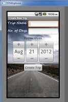 Screenshot of Trip Manager