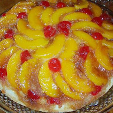 Iron Skillet Peach Upside Down Cake