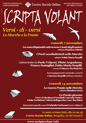 Scripta Volant - Versi-di-versi - Le Marche e la Poesia (manifesto)