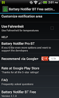 Screenshot of Battery Notifier BT Free