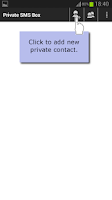 Screenshot of Private Message Box : Hide SMS
