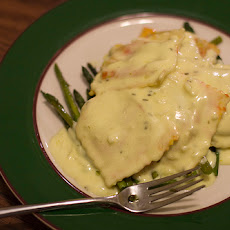 Pumpkin Ravioli with Hazelnut Cream Sauce