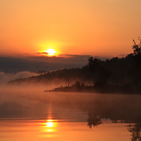Adirondack Sunrise by Peter Andrusyszyn - Landscapes Sunsets & Sunrises ( photo by pete andrusyszyn, little river )