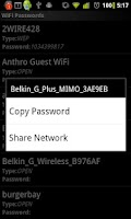Screenshot of WiFi Passwords (requires root)