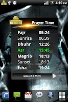 Screenshot of Prayer Time