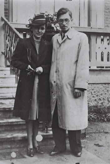 Aliza and Menachem Begin on their    wedding day - 30 May 1939