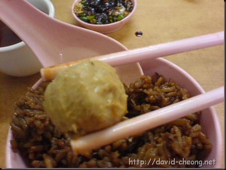 Yam rice + Meat ball