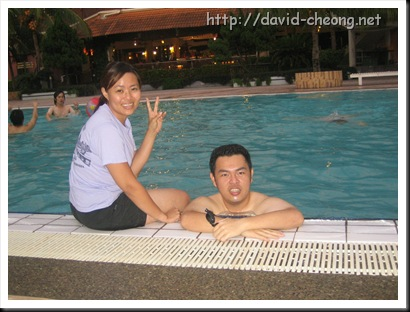 Swimming in Glory beach resort, Port Diction