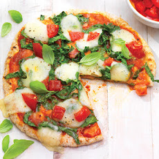 Personal Pizza with Garlic, Spinach & Mozzarella