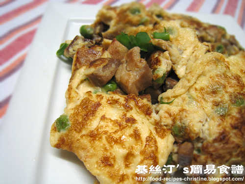叉燒炒蛋 Fried Eggs with BBQ Pork
