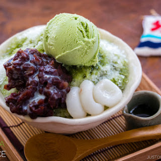 Ujikintoki (Green Tea Shaved Ice) 宇治金時