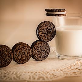 Teamwork by Lana Tolle - Food & Drink Candy & Dessert ( chocolate, teamwork, milk, cookies, dunking,  )