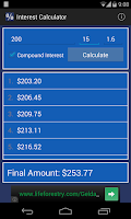 Screenshot of Interest Calculator