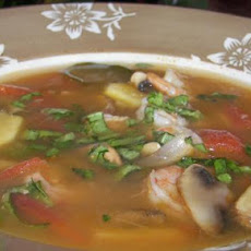 Simple Thai-style Lemongrass Shrimp Soup