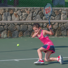 How low can you go. by Pax Bell - Sports & Fitness Tennis ( back hand., tennis )