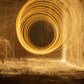 See you on the other side ! by Iftimie Constantin - Abstract Fire & Fireworks ( porta, l sparks, light painting, steel wool, future, fine art, back, sf, long exposure, light, hope )
