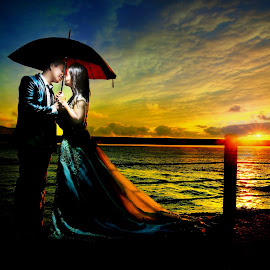 Late Sunset by Anderson Bayani - Wedding Bride & Groom