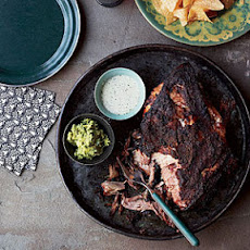 Pork Shoulder Roast with Citrus Mojo and Green Sauce