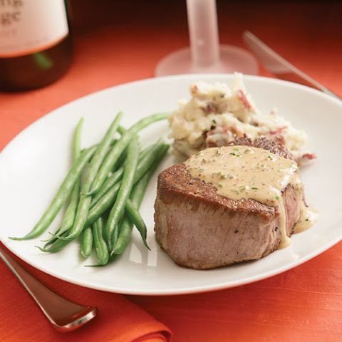 Sear-Roasted Beef Tenderloin with Herb-Mustard Sauce