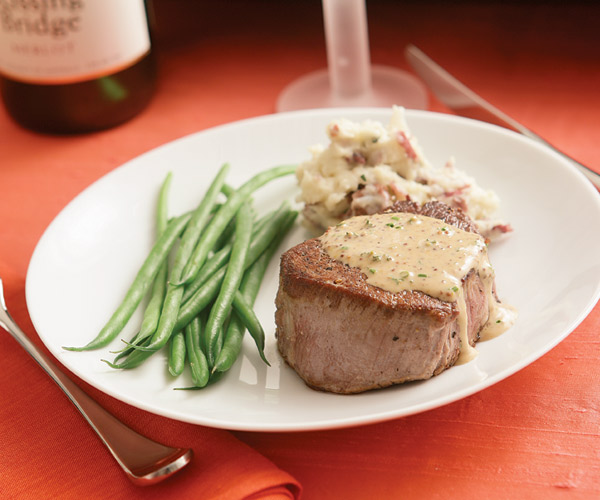 Beef Tenderloin With Shallot Mustard Sauce Recipe — Dishmaps