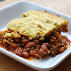 Tamale Pie with Cornbread Batter