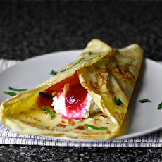 Sugar Plum Crepes with Ricotta and Honey