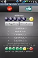 Screenshot of Powerball & MegaMillions