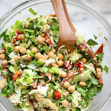 Italian Chopped Salad with Marinated Chickpeas