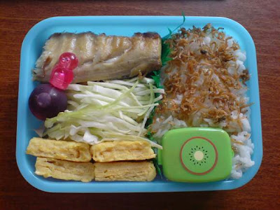 mackerel bento 1 layer
