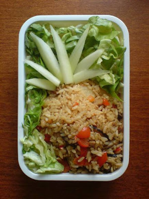 pineapple rice bento